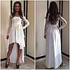Комбинированное платье гипюр+жаккард , фото 3