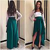 Комбинированное платье гипюр+жаккард , фото 6
