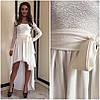 Комбинированное платье гипюр+жаккард , фото 4