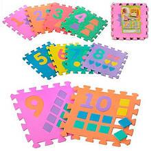 Коврик-Мозайка (12шт) EVA цифр 10шт 30*30см М0375 7 toys