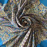 Великолепный век 1867-13, павлопосадский платок (шаль, крепдешин) шелковый с шелковой бахромой, фото 7