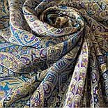 Великолепный век 1867-13, павлопосадский платок (шаль, крепдешин) шелковый с шелковой бахромой, фото 9