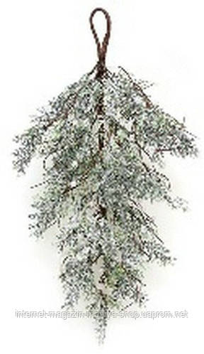 Т-образная декоративная ветка из хвои 60см