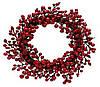 Венок из красных ягод 40см