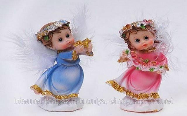 Фигурка Ангелочек голубой и розовый 8см в асс 2