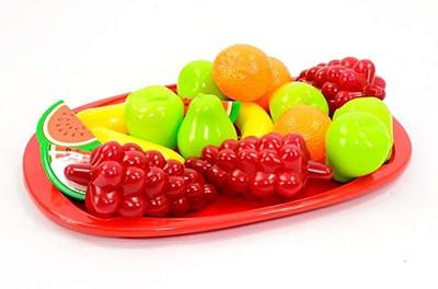 Посуда игрушечная разнес с фруктами 31*22мм Орион 39-8-0191