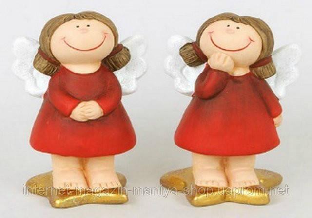Керамическая новогодняя статуэтка Ангел, 12.5см