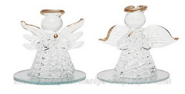 Новогоднее украшение Ангел на зеркальной подставке, 5.5см