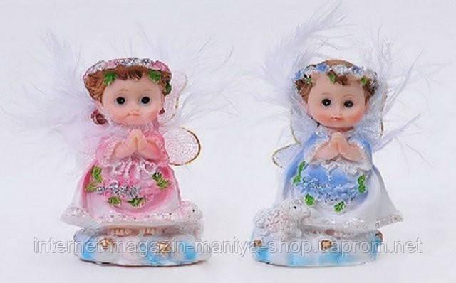 Фигурка Ангелочек голубой и розовый 7,5см в асс 2