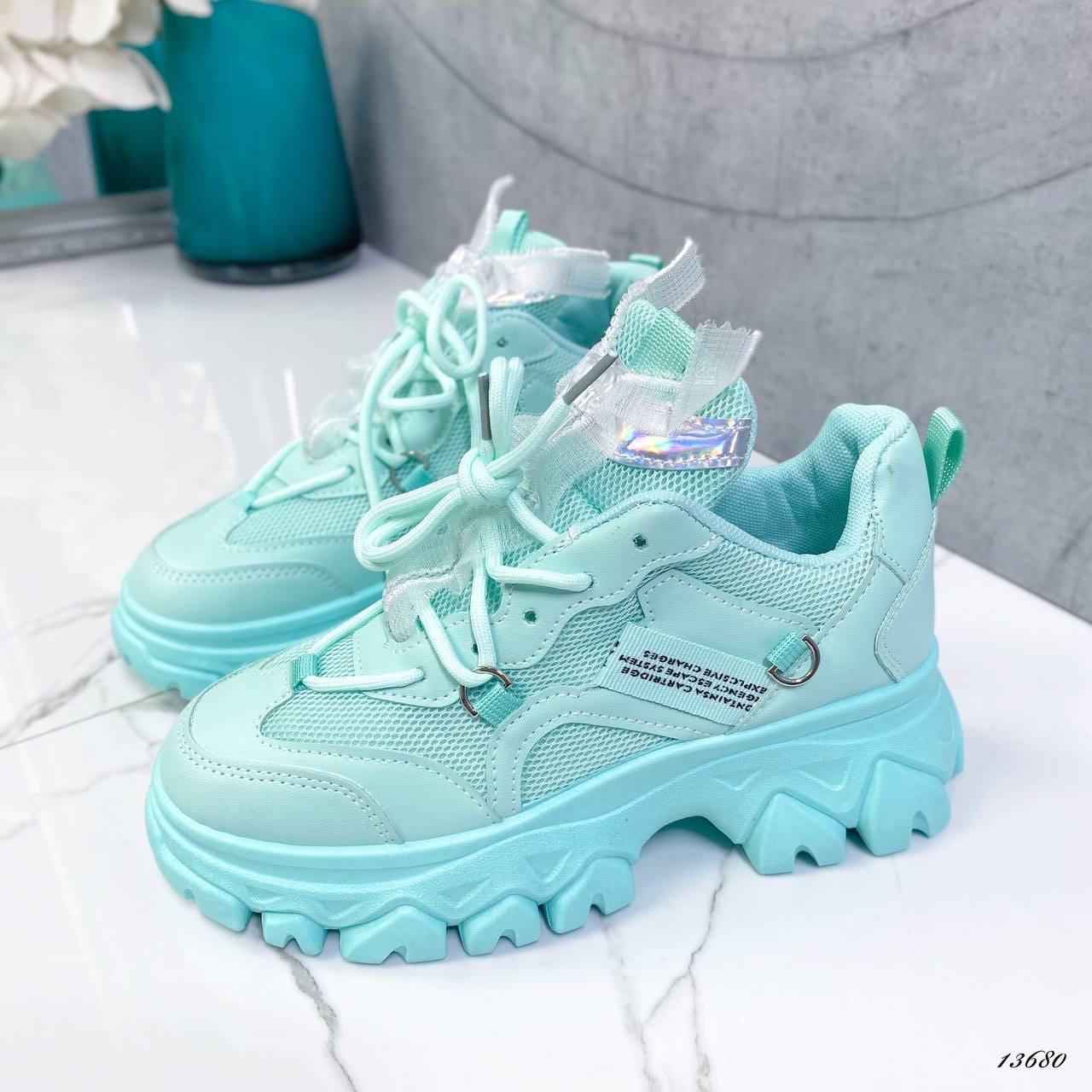 Женские кроссовки бирюза 13680