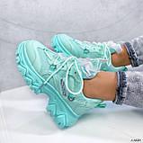Женские кроссовки бирюза 13680, фото 2