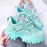 Женские кроссовки бирюза 13680, фото 6