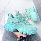 Женские кроссовки бирюза 13680, фото 10