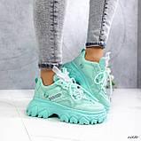 Женские кроссовки бирюза 13680, фото 5