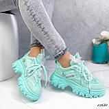 Женские кроссовки бирюза 13680, фото 8