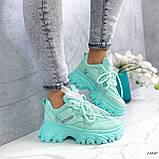 Женские кроссовки бирюза 13680, фото 4