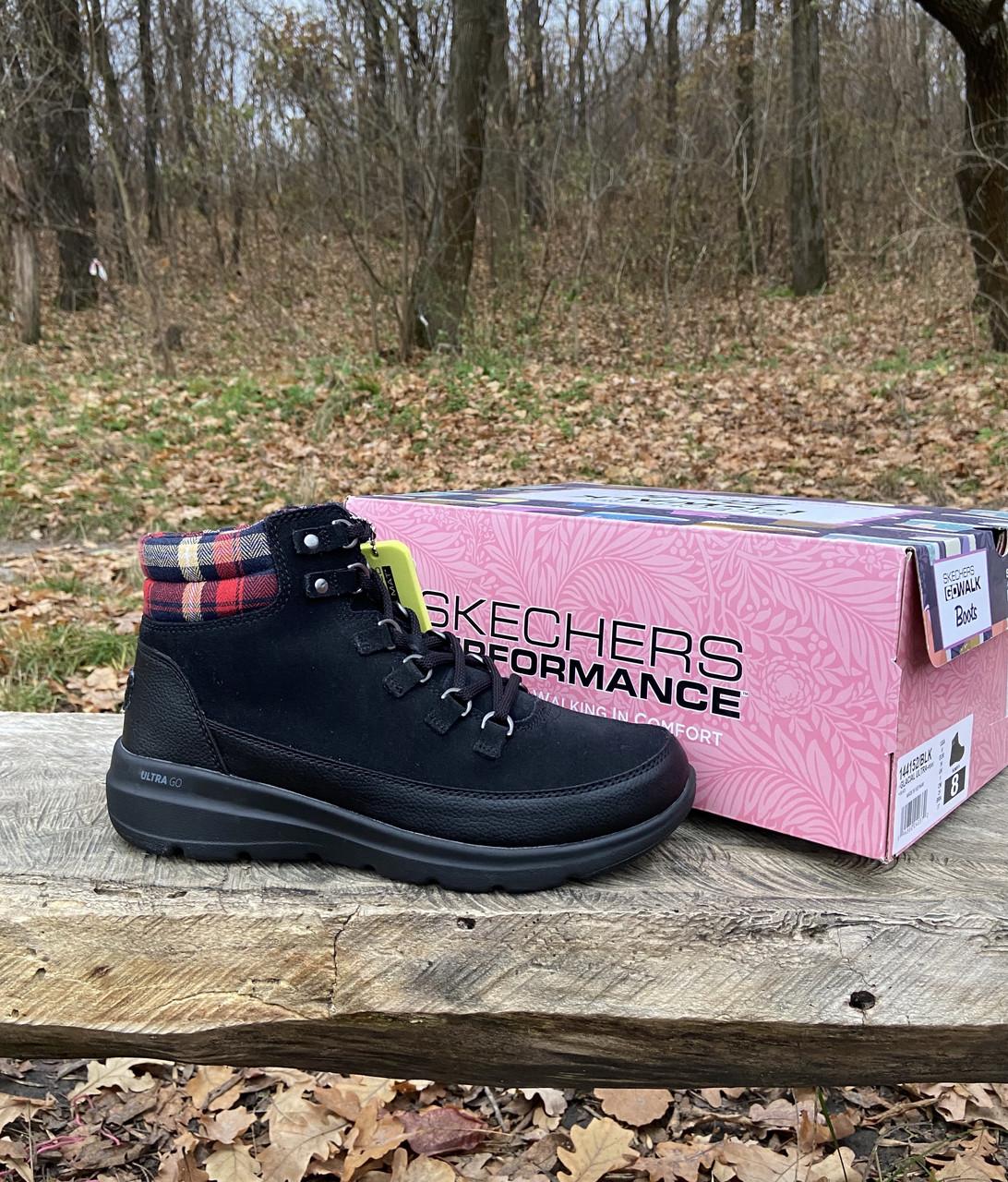 Женские утепленные ботинки Skechers Glacial Ultra оригинал натуральная замша 38