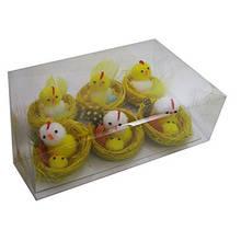 Сувенир пасхальный Курочка в гнезде цена за упак 6шт/уп 8-225