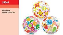 Мяч надувной цветочный звезды 3+ лет 51см 59040 Intex