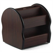 Органайзер настольный деревянный поворотный 130*140*140мм 5-909