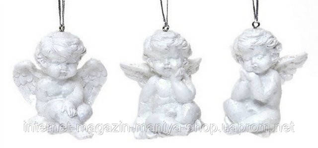 Декоративный подвесной декор Ангел 7,5см в асс 3