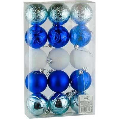 Набор елочных игрушек шар 6см 15шт 92427-PN