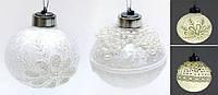 Елочный шар с LED подсветкой, 8см