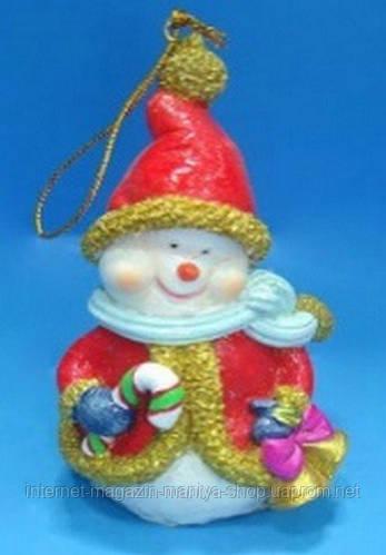 Елочная игрушка Снеговик, 10.7см