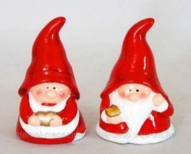 Новогодняя фигурка с колокольчиком Санта, 10см