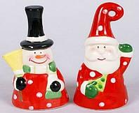 Новогодняя фигурка-колокольчик Санта, Снеговик, 10.6см