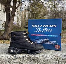 Женские утепленные ботинки Skechers DLITES WEEKENDER оригинал водонепроницаемы 38