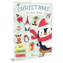 Книга. Веселые игрушки для дошкольников: Christmas sticker book. Елка укр 9414