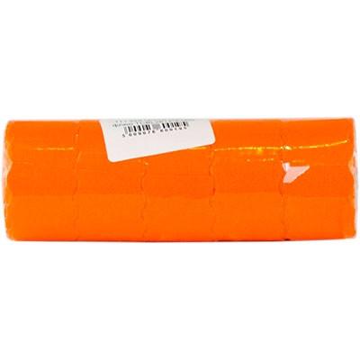 Ценник Datum флюо TCBL2612*6,00м овал 500шт/рол оранж