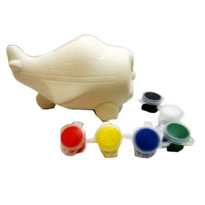 Раскраска копилка керамическая Самолетик 8-529 (22087)