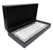 Футляр на 2 ручки серебряный атлас 8-49-1