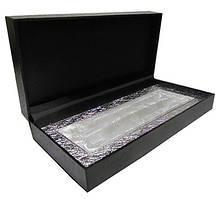 Футляр на 2 ручки серебряный атлас 8-49-2