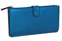 Супермодный женский кошелек 002 2 Blue на кнопке