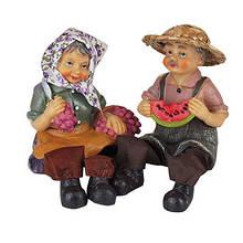 Статуетка Дед и бабка керамика (2шт/комплект) арт. 8717АВ 6-79 (7081)