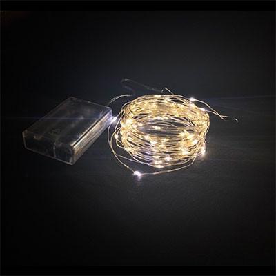 Гирлянда от батареек леска желтая 20-22-1