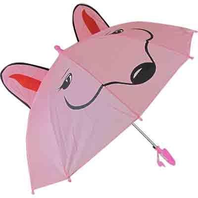 Зонтик-трость со свистком Рожица с ушками 10-652 (1169)