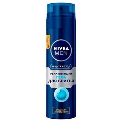 Гель для бритья Nivea Men Защита и уход увлажняющий против сухости кожи 200 мл 9109