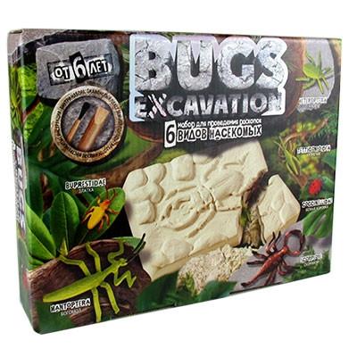 Набор для проведения раскопок DINO EXCAVATION жуки рус BEX-01-01,02,03,04