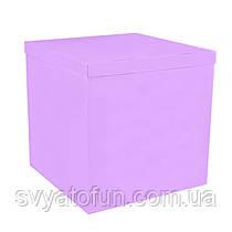 Коробка-сюрприз для воздушных шаров сиреневая без надписей