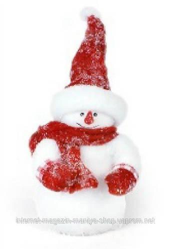 Новогодний декор Снеговик, 35см