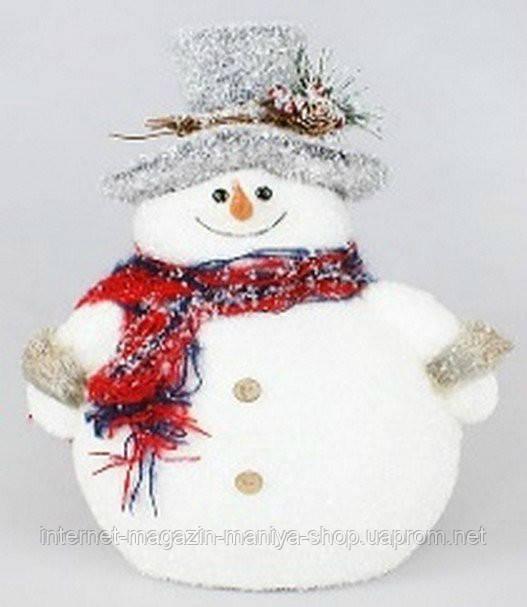 Новогодний декор Снеговик, 32см