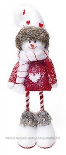 Новогодний декор Снеговик, 44см