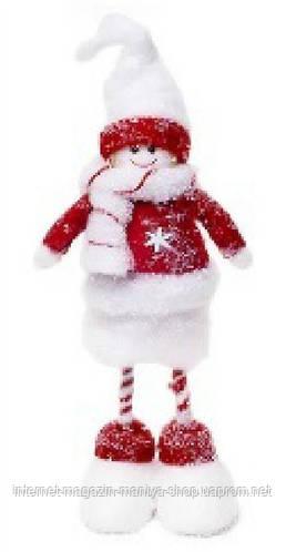 Новогодний декор Снеговик, 36см