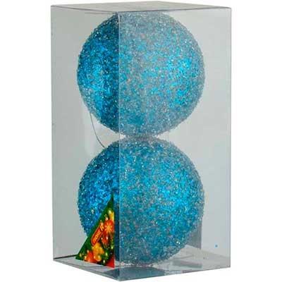 Набор елочных игрушек пластик 10см в упак 2шт 92530-PN