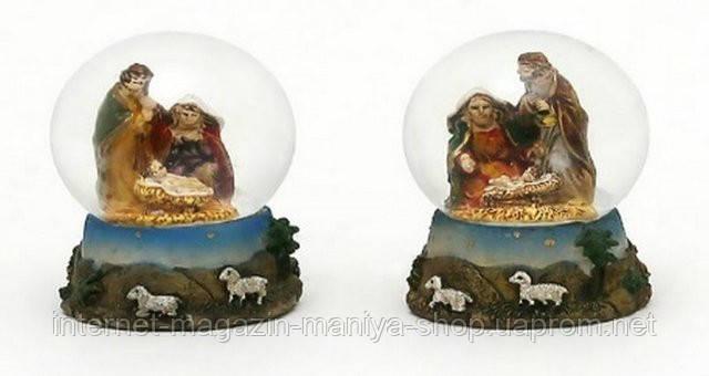 Декоративный водяной шар 5см Рождественский Вертеп в асс 2