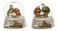 Декоративный водяной шар 7см Рождественский Вертеп в асс 2